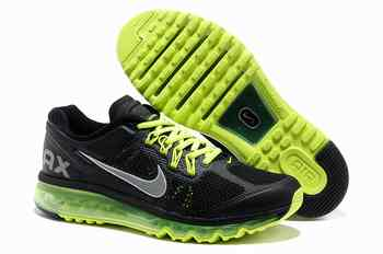 new concept 4c898 7516a Pas cher Men Nike Air Max 2013 noir Fluo Green Dublin sportif chaussures